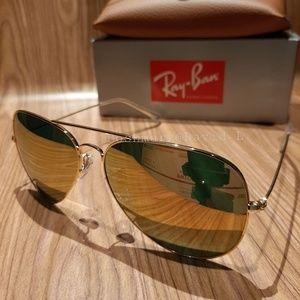 Ray-Ban Aviator Pilot Rose Mirror/ Gold frame